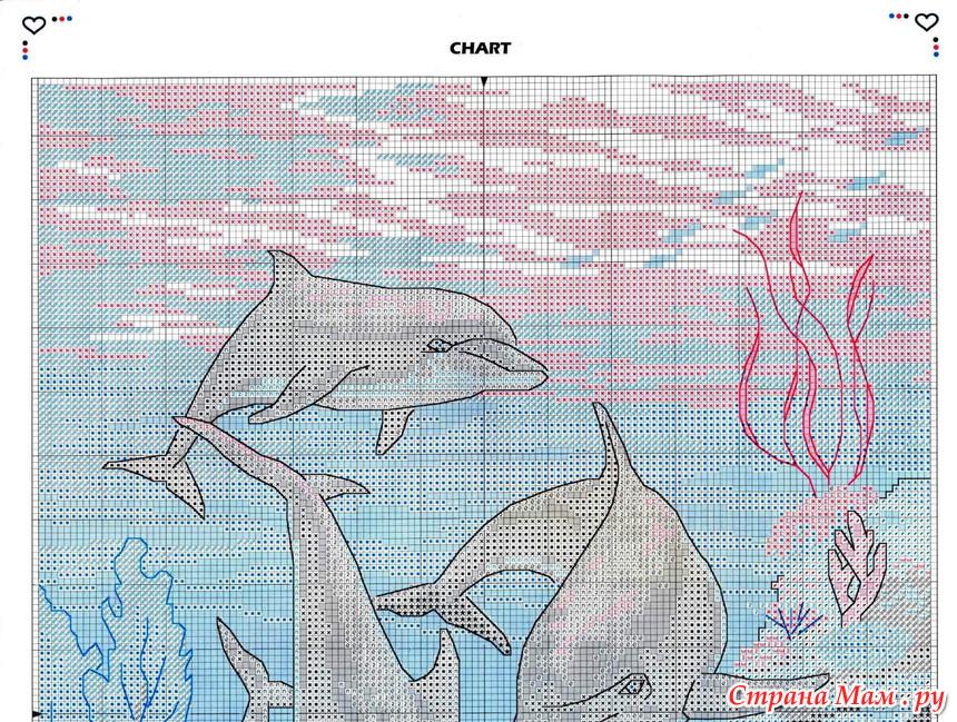 Подводный мир-схемы вышивка крестом