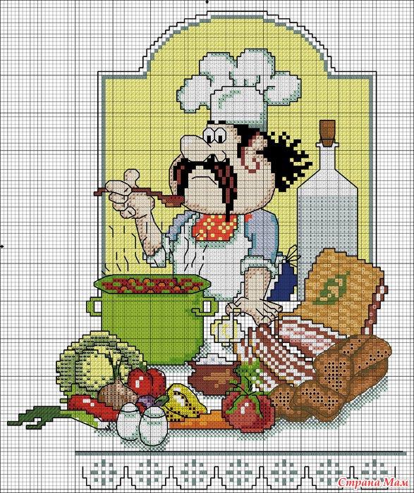 Вышивка серия кулинарный техникум