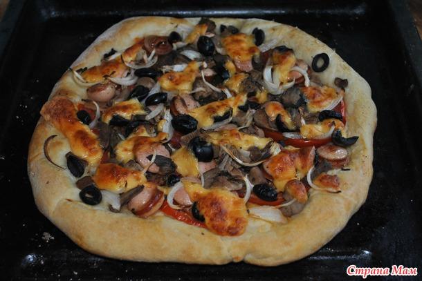 Простая и очень вкусная пицца