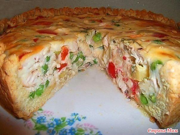 Открытый чудо – пирог с летними овощами!