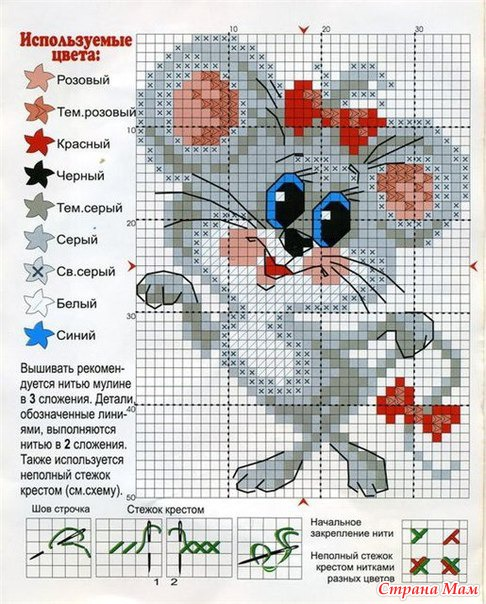 Тэги: Вышивка крестиком, мышки