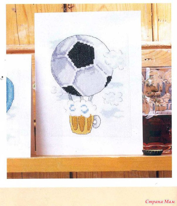 Вышивка футбольного мяча