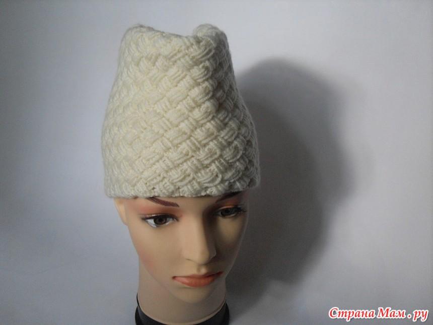 Вязание шапка пилотка схема