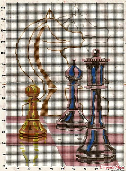 Схемы вышивки с шахматами