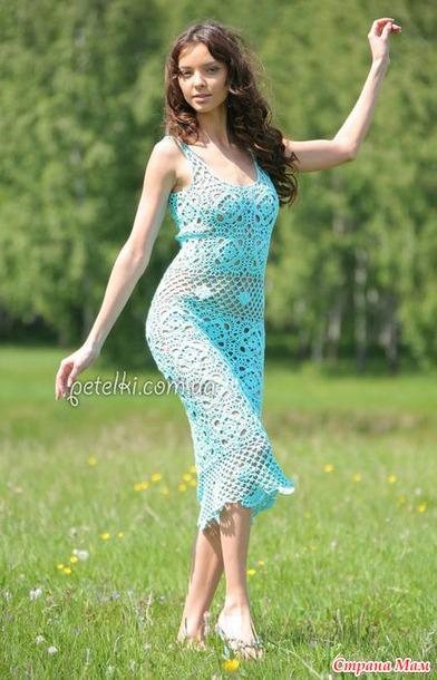 """Предлагаю связать платье """"Голубая мечта"""""""