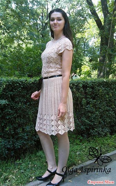 Ремешок на платье крючком