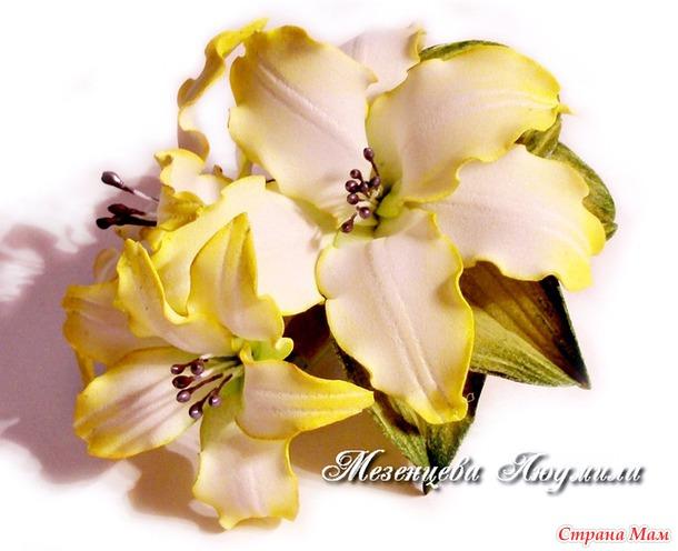 Своими руками цветы из фома