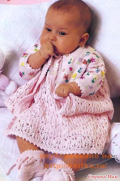 Вязание спицами для грудничков девочек 16