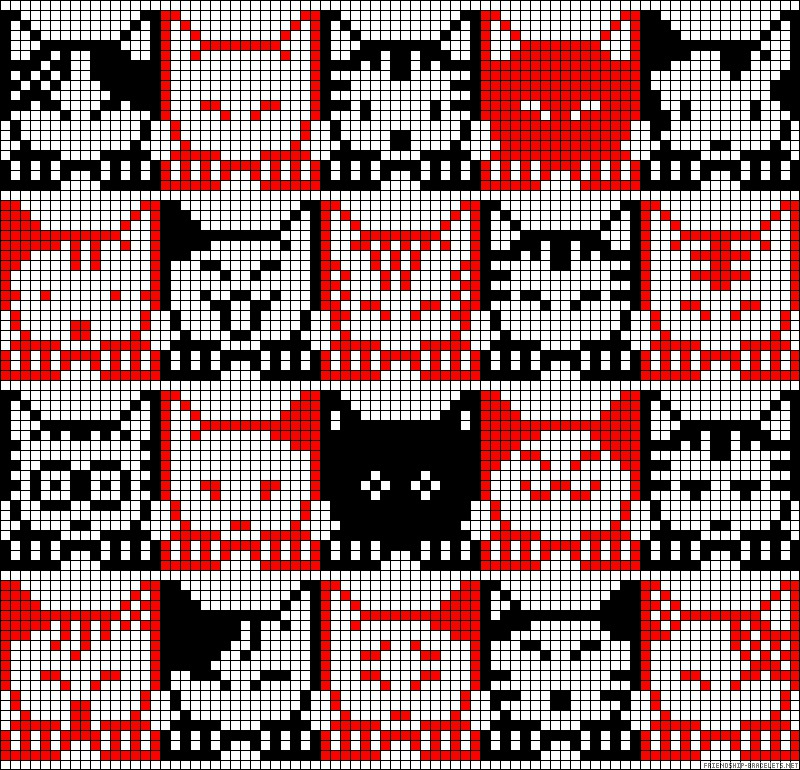 Плетение фенечек с котами