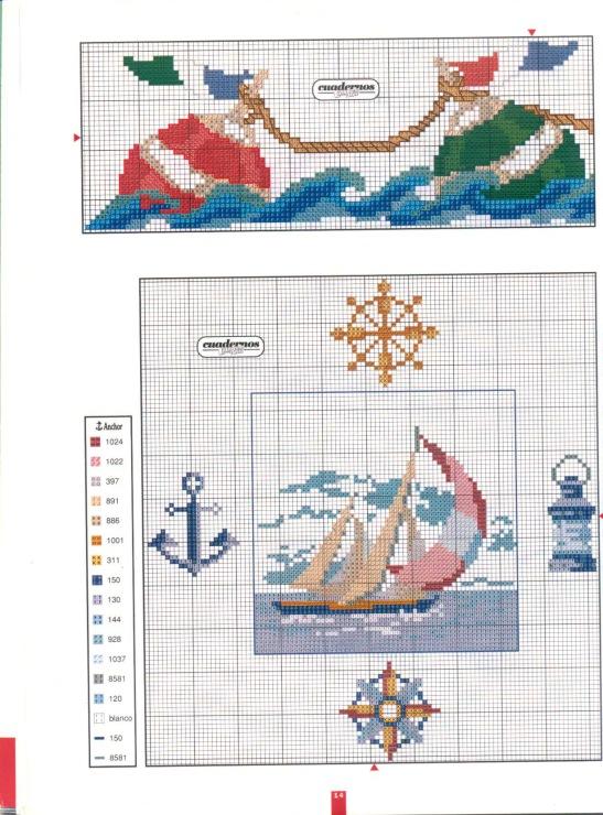Вышивка крестом морской сюжет