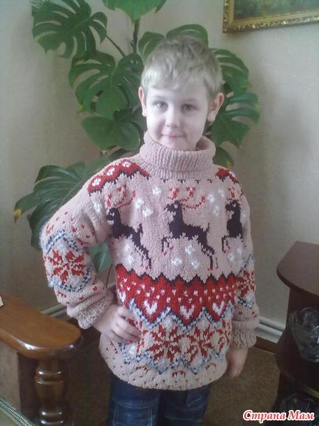 свитер из плюшевой пряжи для девушки спицами