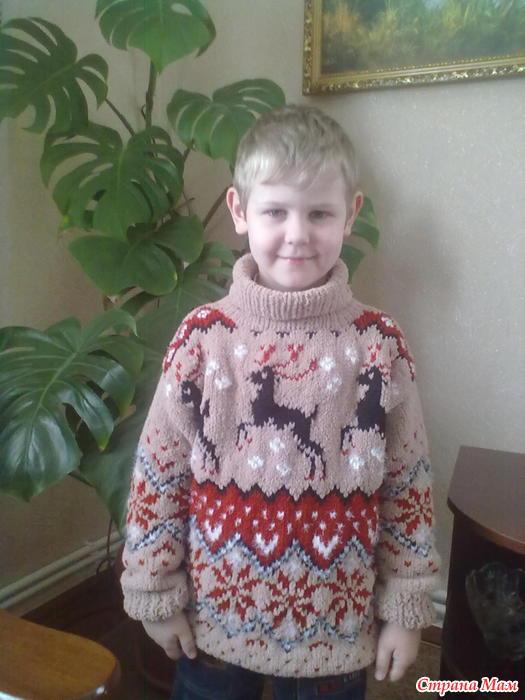 свитер из плюшевой пряжи спицами девочке