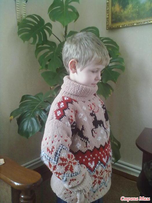 вязание спицами из плюшевой пряжи для детей