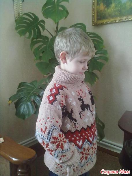 свитер из плюшевой пряжи