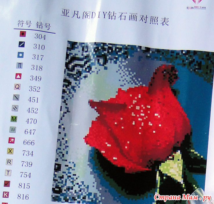 Алмазная вышивка роза алиэкспресс
