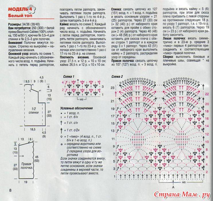 Вязание крючком узор жучки 96