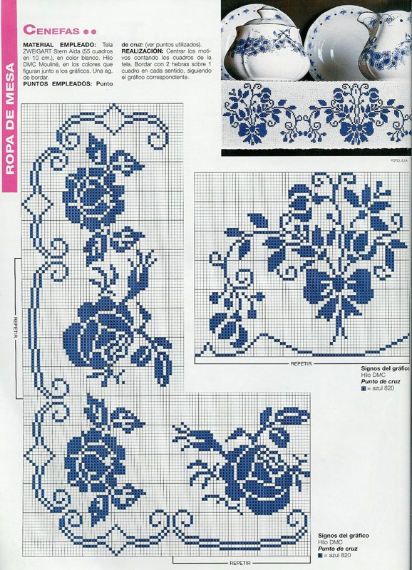 Схемы для вышивок под гжель