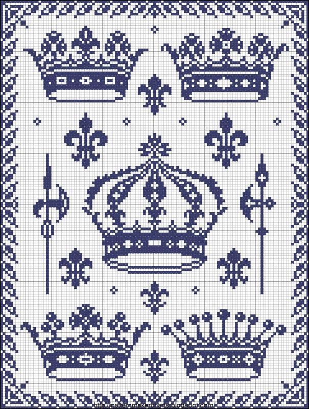 Геральдический вышивка