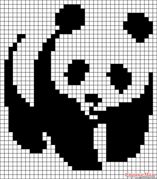 Вышивка крестиком. Панды.