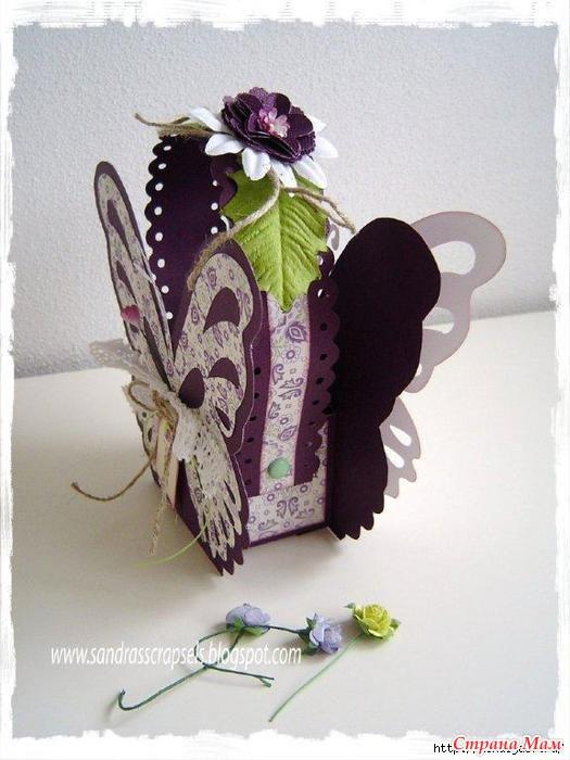 Бабочка коробочка своими руками