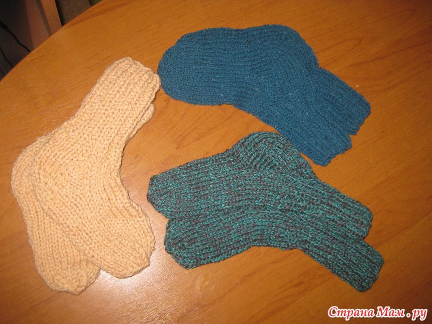 Вязание детских шерстяных носок