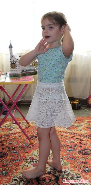 Ажурная юбочка для дочки