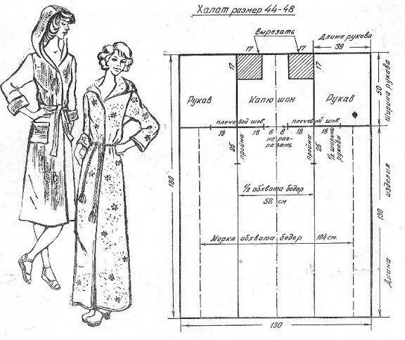 Как сшить ребенку халат для бани