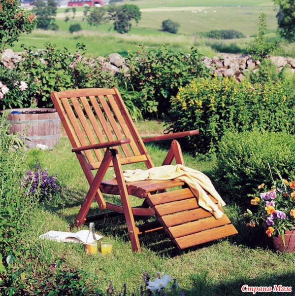 Лежак в сад