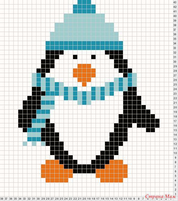 Вышивка /пингвины/