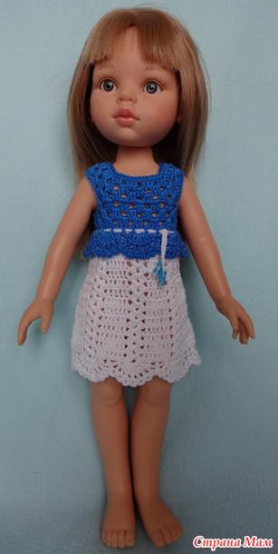 Вяжем платье для Paola Reina.