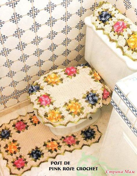 Сделать коврик в туалет своими руками