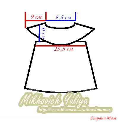 Вяжем вместе крестильно-нарядное платье