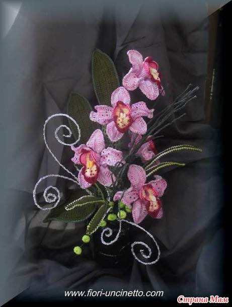 Вязаные цветы ( для вдохновения)