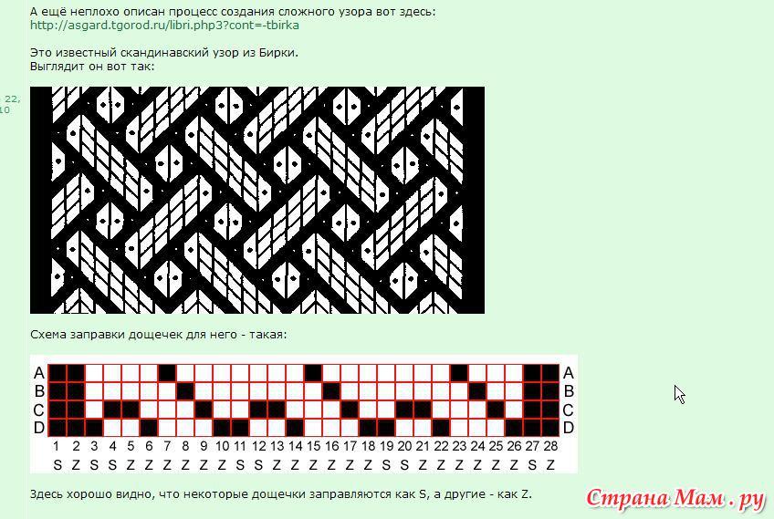 Схемы для плетения на дощечках сложные