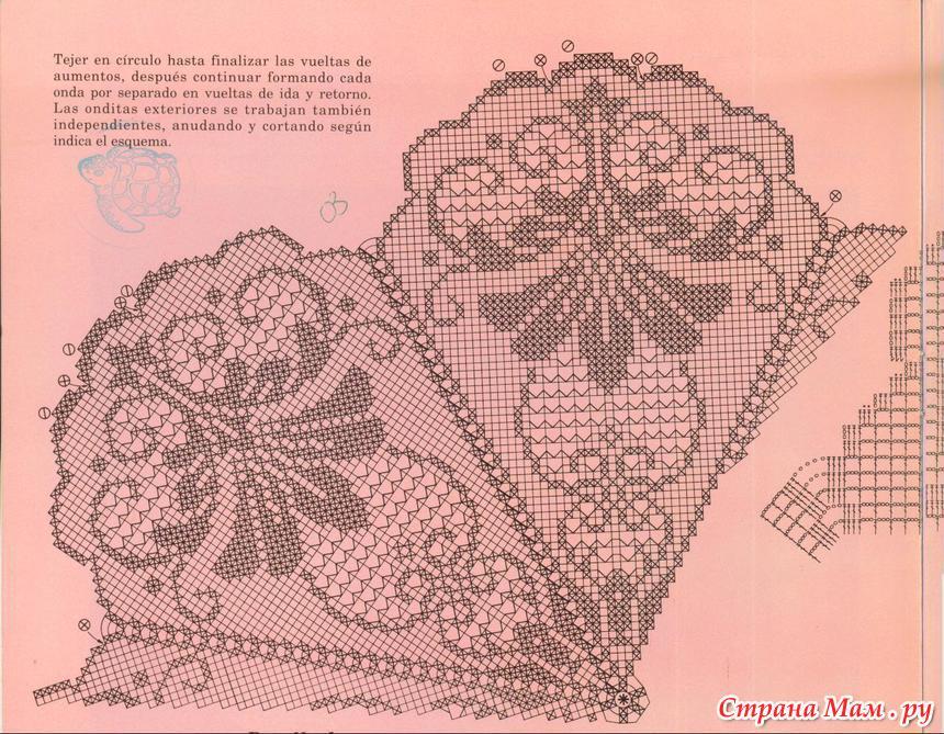 Филейное вязание скатерти бесплатно