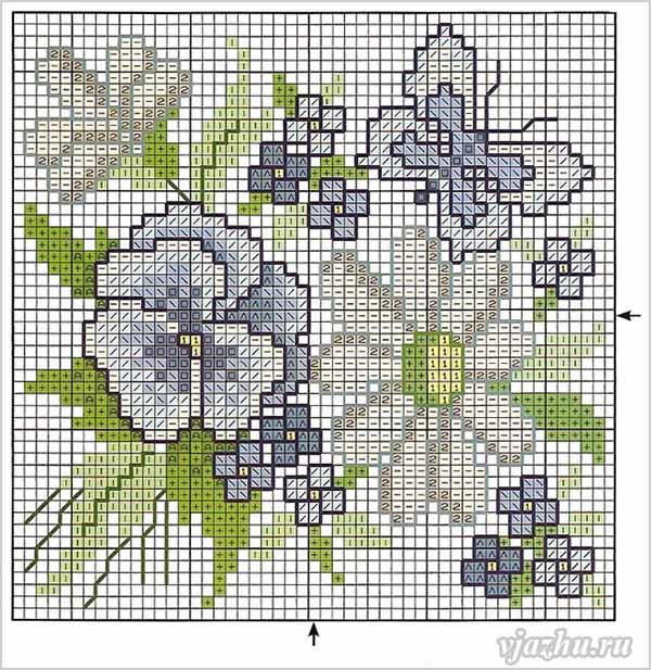 Схемы цветов для вышивки