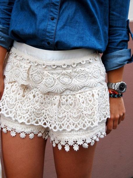 Вот беленькие шорты ещё: