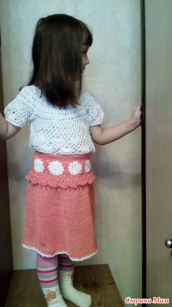 Ажурная юбочка девочки крючком схема фото 295