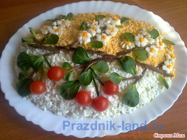 Рецепты салатов с фотографиями украшение блюд