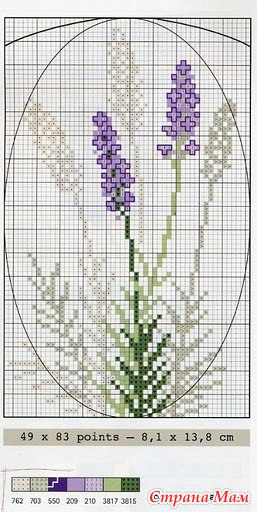 Схемы вышивок крестиком лаванды