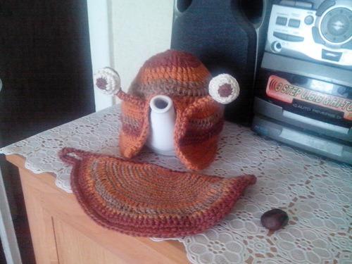 Грелка на чайник улитка своими руками 97