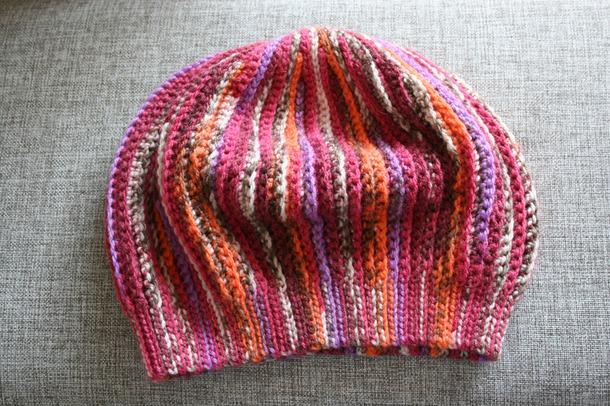 Берет в технике Slip Stitch Crochet