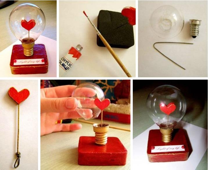 Подарки  из лампочек