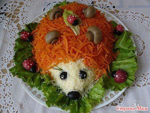 Салатики рецепты с фото детские