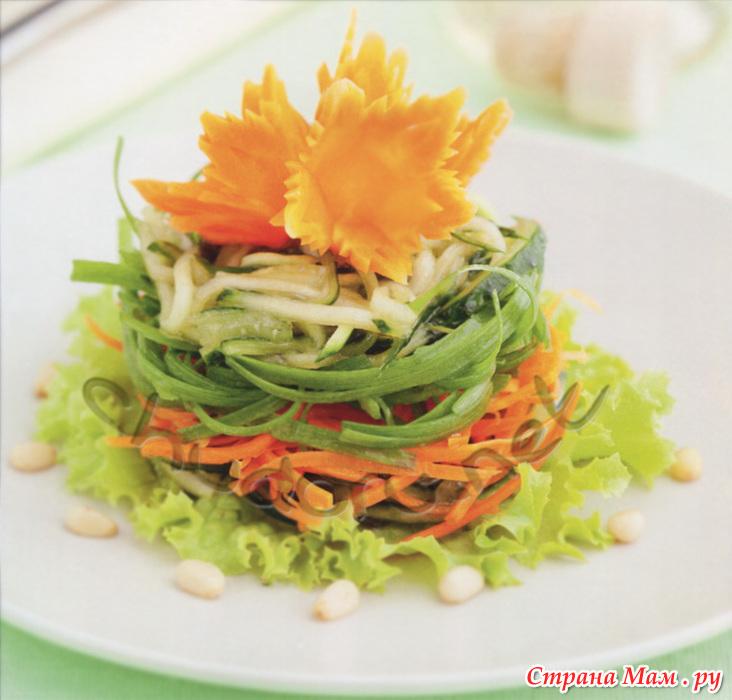 Украшения для салатов из моркови фото