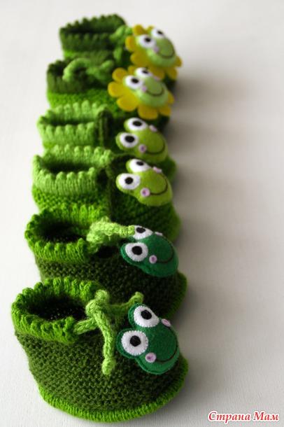 Пинетки лягушки схема