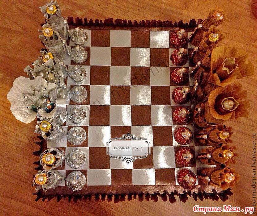 Шахматы из конфет