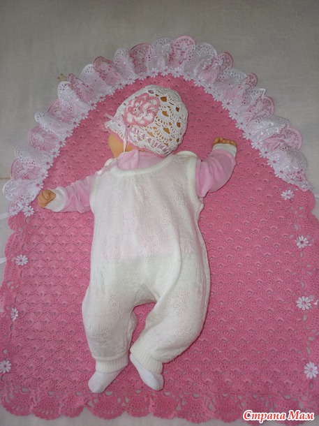 Плед-конверт для новорожденной