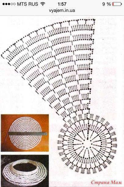 Схема вязание лесенка