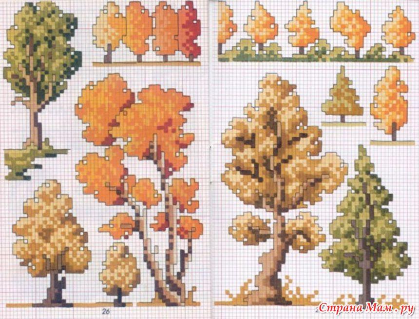 Вышивки на тему осень
